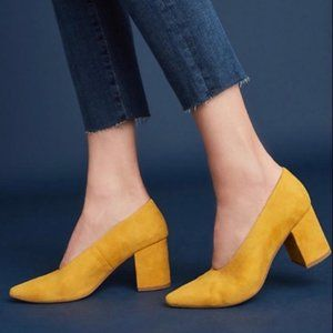 Seychelles Yellow Suede Pumps